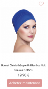 Bonnet de nuit nj paris en bambou