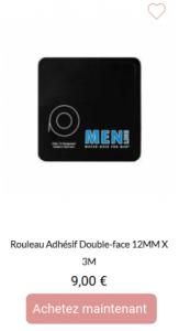 Rouleau adhésif double face 12mmx5m