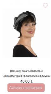 box joie : un bonnet, un foulard et une couronne de cheveux
