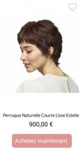 Perruque Naturelle Courte lisse Estelle