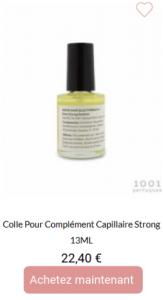 Colle forte pour complément capillaire