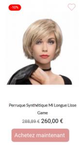 Perruque Synthétique Mi Longue Lisse Game