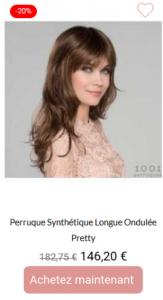 Perruque synthétique Longue ondulée Pretty