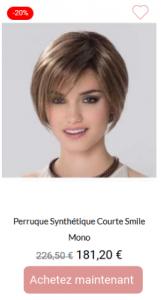 Perruque synthétique Courte Smile Mono