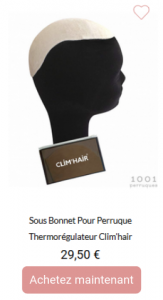 sous bonnet thermorégulateur clim'hair
