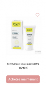 Soin Hydratant Visage Evoskin - 1001perruques