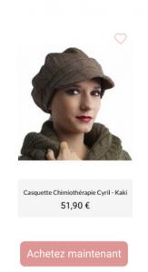 Casquette Chimiothérapie Cyril- 1001Perruques.com