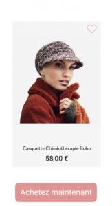 Casquette chimiothérapie boho - 1001Perruques.com
