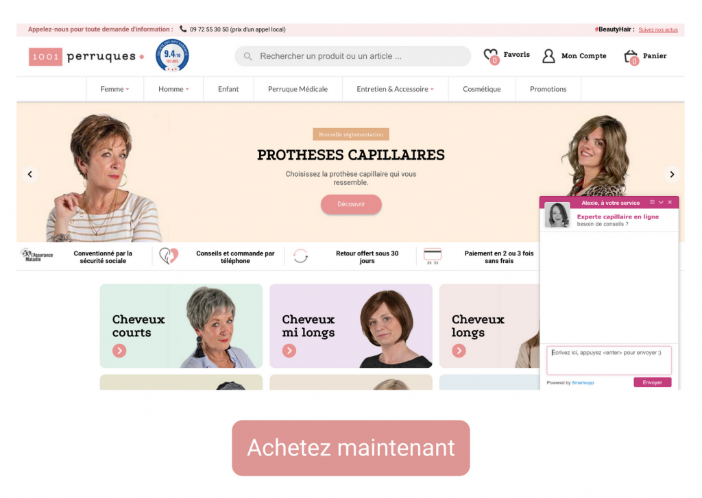 Boutique prothèses capillaires et turbans 1001Perruques.com