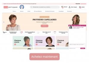 Site internet 1001perruques.com