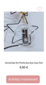 vernis nail art pailleté eye care - 1001Perruques.com