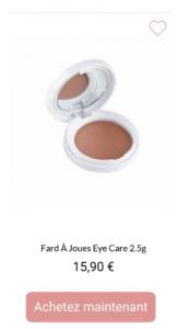 fard à joues eye care - 1001Perruques.com