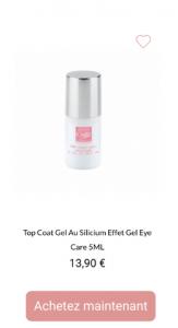 vernis top coat gel + eye care - 1001Perruques.com