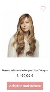 Perruque naturelle longue lisse Georgia - 1001perruques.com