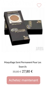 maquillage sourcils pochoirs eyepower - 1001perruques.com
