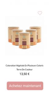 Coloration végétale Terre de couleurs - 1001perruques