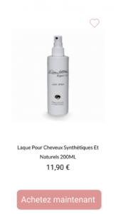 Laque Pour Cheveux Synthétique Et Naturels - 1001perruques.com