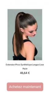 Extension Pince Synthétique Longue Lisse - 1001perruques.com