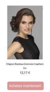 Chignon Élastique Extension Capillaire Gin - 1001perruques.com