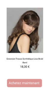 Extention Braid band -1001Perruques