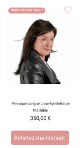 Perruque synthétique Mathilde
