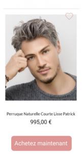 Perruque naturelle - Patrick