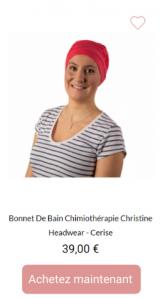 Bonnet de bain Cerise - 1001Perruques