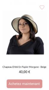 Chapeau Morgane - 1001Perruques