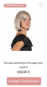Perruque synthétique Laurène - 1001Perruques