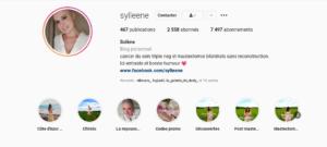 Instagram @sylleene cancer du sein triple négatif